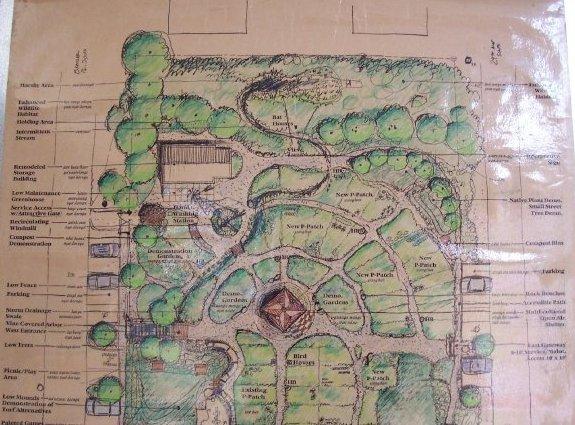 bradner gardens park - plan, top half