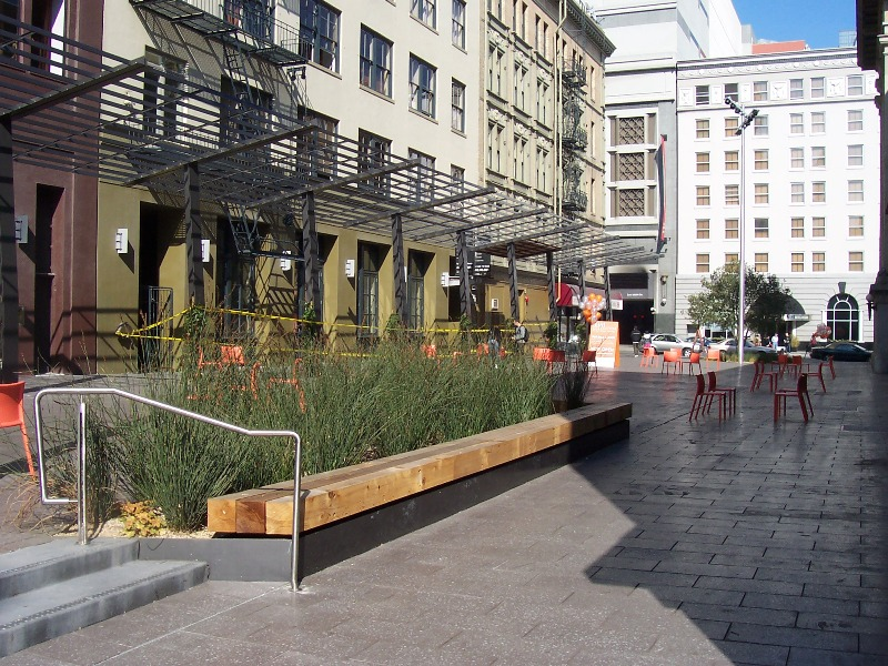 Local ecologist stormwater management on mint plaza san for San francisco landscape architecture