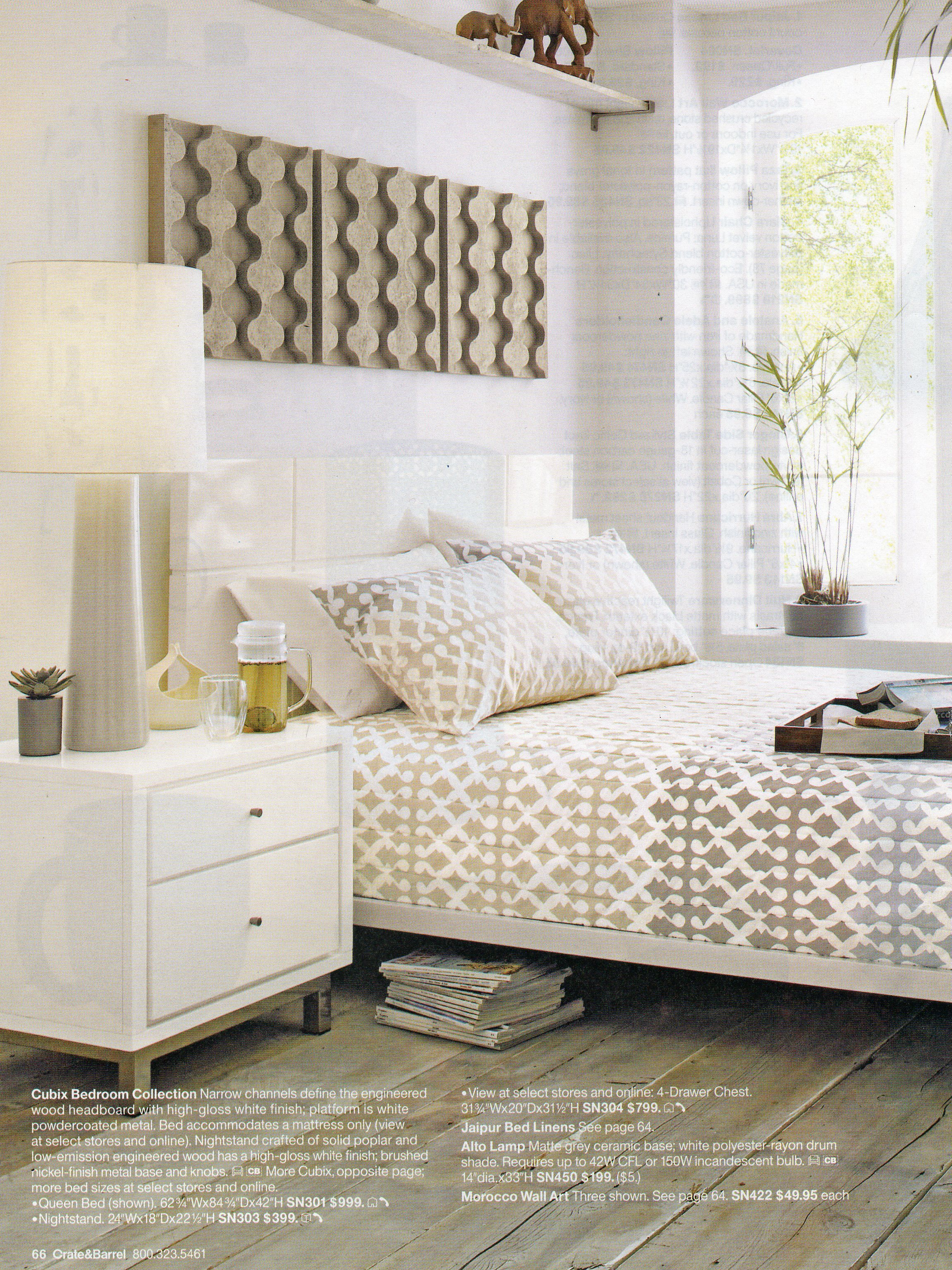 image bedroom setting crate barrel catalog april 2011